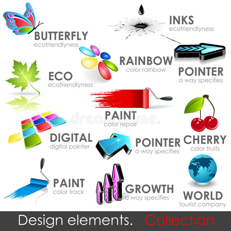 Design elements collection vector illustration