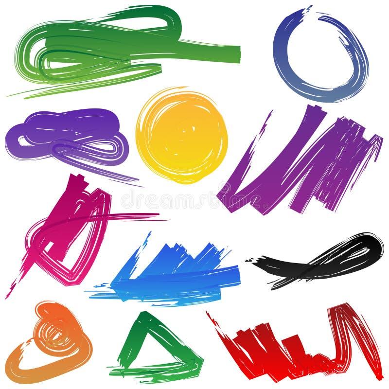 Design elements in color stock illustration
