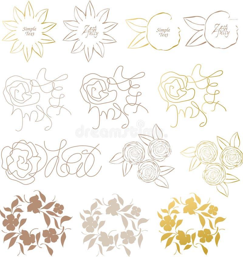 Design elements flower stock photo