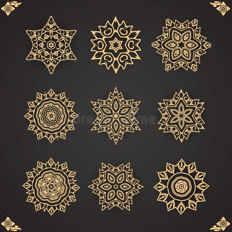 Design elements graphic Thai design on seamless royalty free illustration