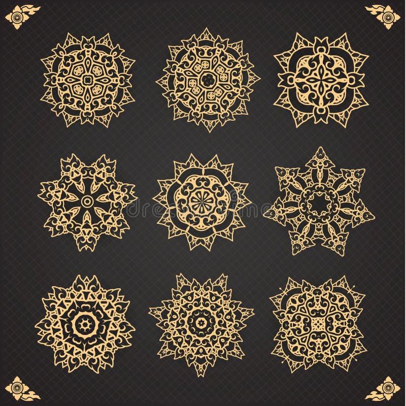 Design elements graphic Thai design on seamless stock illustration