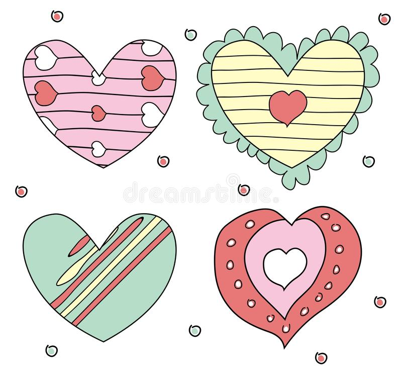 Design Elements- Hearts Royalty Free Stock Image