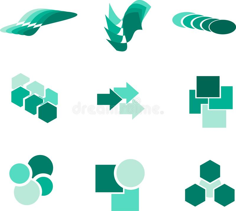Design elements and logos. Vector design elements and logos SET stock illustration