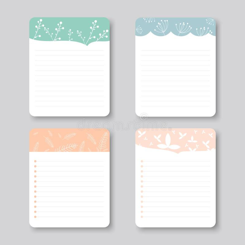 Design elements for notebook, diary, stickers and other template.vector,illustration. stock photos