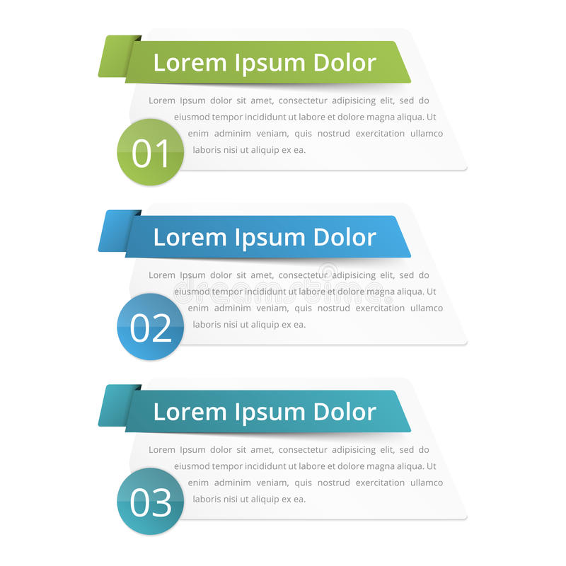 Design Elements with Numbers. Infographics design elements with place for numbers (steps or options) titles and text royalty free illustration
