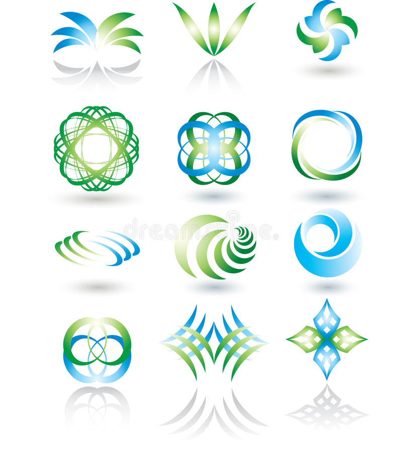 Download Design elements set. stock vector. Image of iconic, ring - 9097933