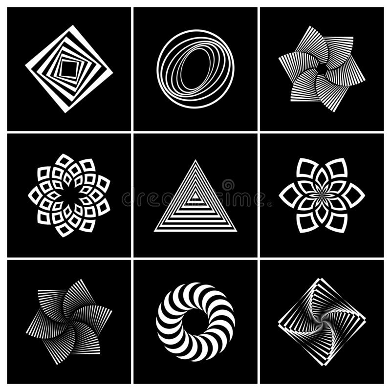 Design elements set. Abstract geometric icons. Vector art stock illustration