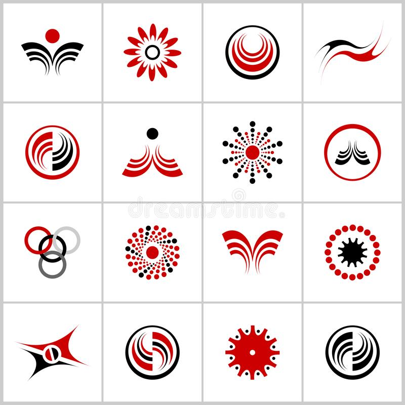 Design elements set. Abstract icons royalty free illustration