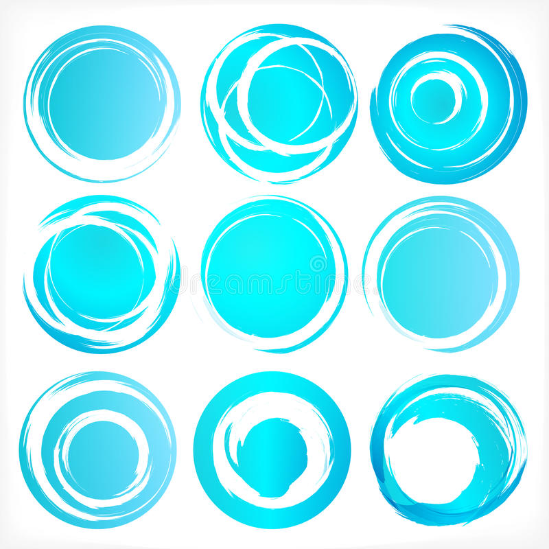 Design elements in blue colors icons. Set 3. Design elements set in blue colors icons. Set 3. Vector illustration stock illustration
