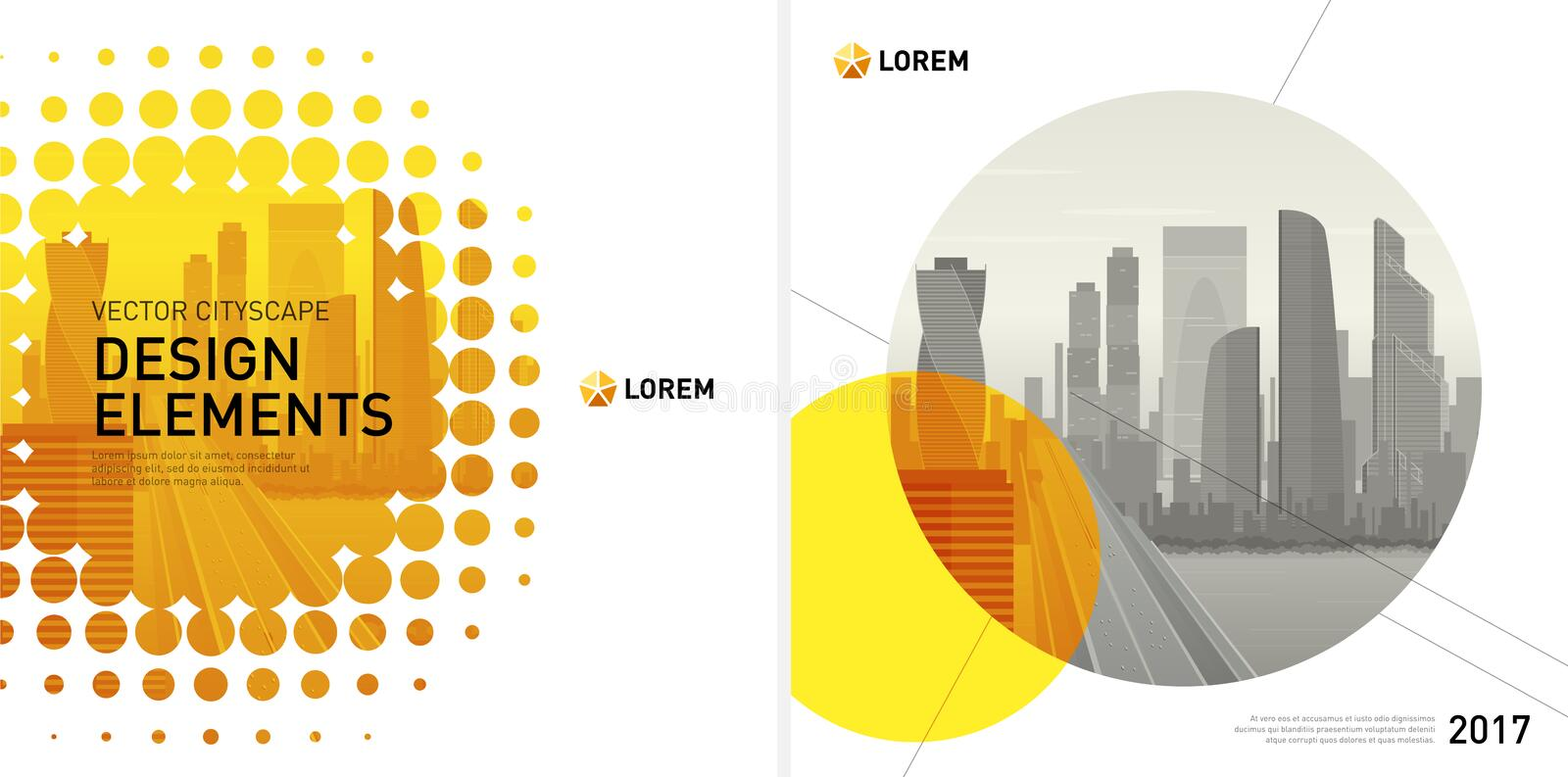 Design elements set for corporate graphic layout. Design element for corporate graphic layout. Modern background template design for investment, business, real vector illustration
