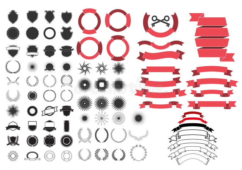Design elements set royalty free illustration