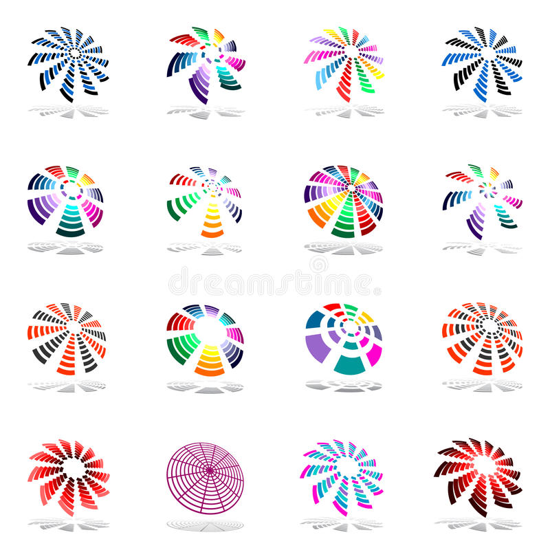 Download Design Elements Set With Rotation. Stock Vector - Illustration of circular, color: 17427064