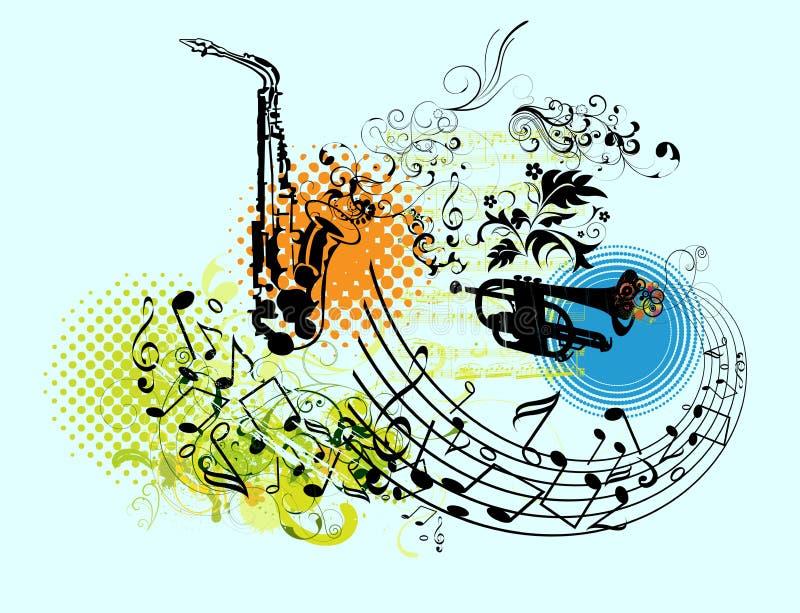 Design elements vector. Design elements for musical illustrations stock illustration