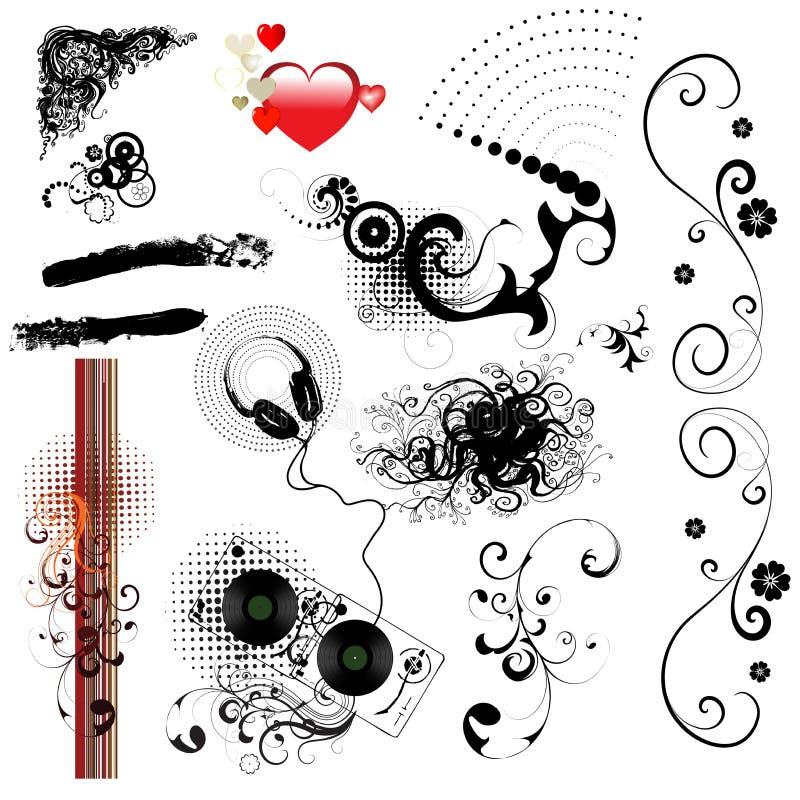 Design elements-vector set. Set of different decorative elements royalty free illustration