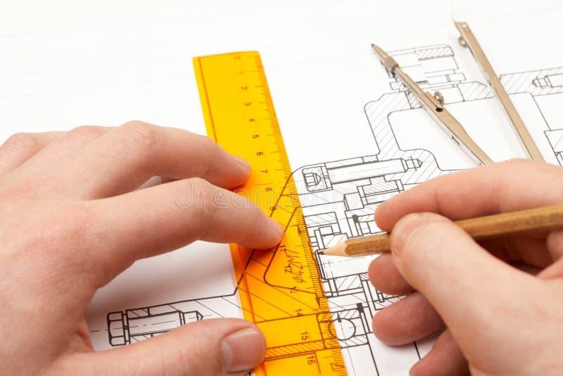 Download Design engineer stock image. Image of paper, blueprint - 12616771