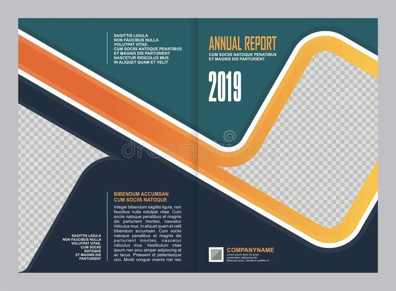 Design för årsrapporträkningsmall vektor illustrationer