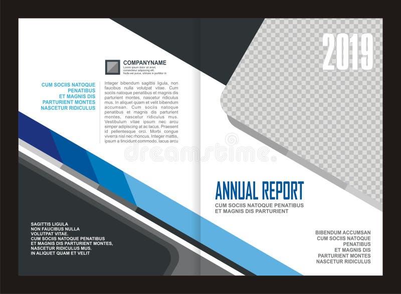 Design för årsrapporträkningsmall stock illustrationer