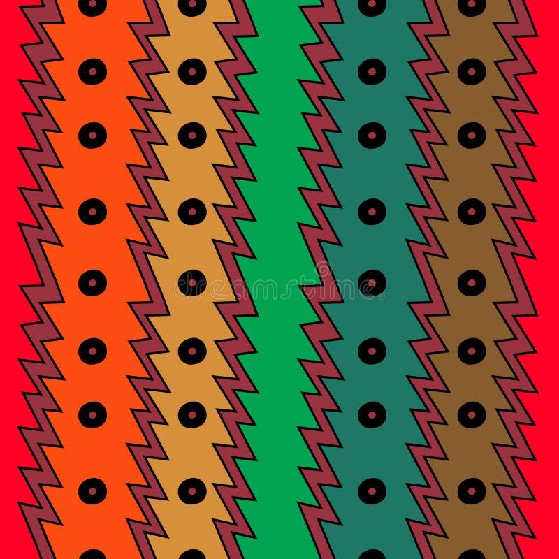 design för abstrakt begrepp för bakgrund för geometrisk etnisk modell för teckning sömlös färgrik moderiktig stock illustrationer