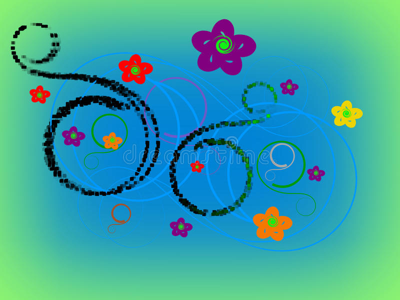 Design för abstrakt begrepp för gemkonst - illustration 3D arkivfoto