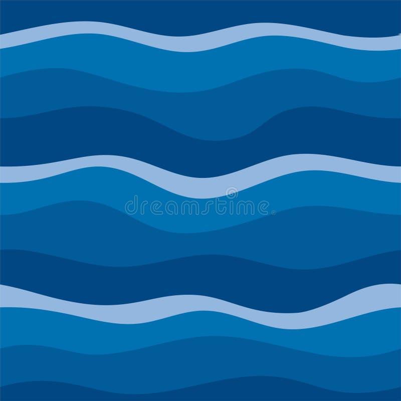 Design för abstrakt begrepp för vattenvåg royaltyfri illustrationer