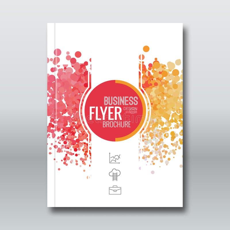 Design för affärsrapport, reklambladmall, bakgrund med färgrika prickar royaltyfri illustrationer