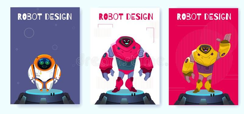 Design för affischNext Generation idérik robot royaltyfri illustrationer