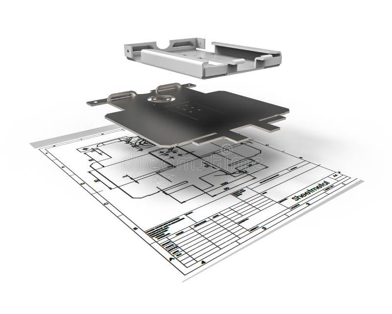 Design för arkmetall vektor illustrationer