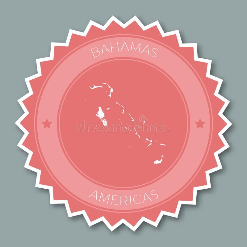 Design för Bahamas emblemlägenhet stock illustrationer