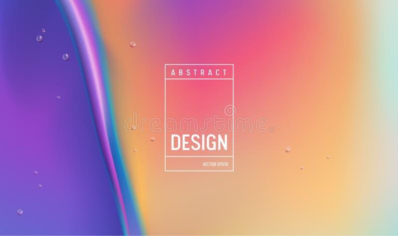 Design för bakgrund för färg för vätskelutning Fluid futuristisk minsta affisch eller landningsida Moderiktig illustration stock illustrationer