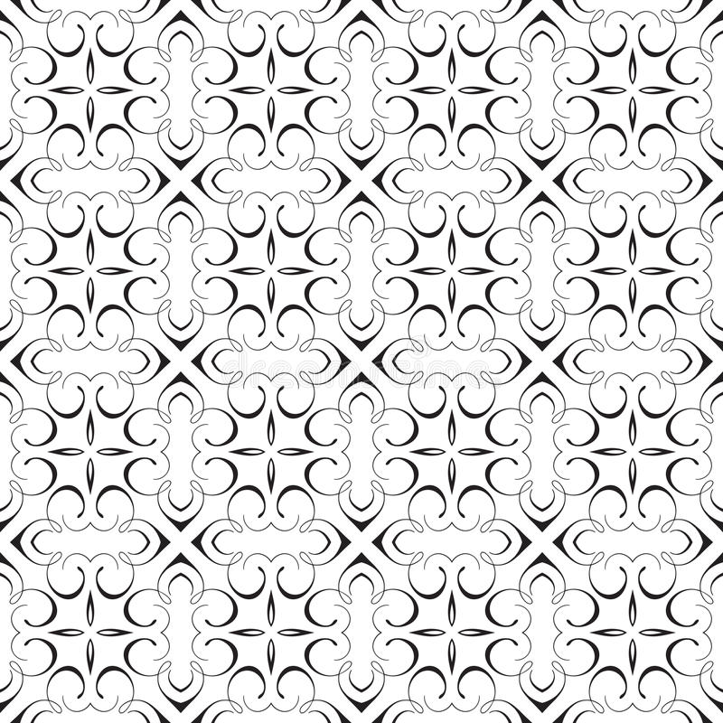 Design för bakgrund för modell för vektor för elegant damast krusidull för kalligrafi dekorativ geometrisk utsmyckad upprepande s royaltyfri illustrationer