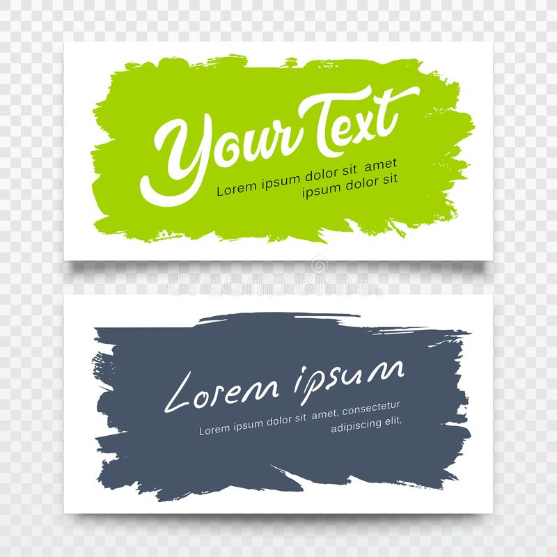 Design för bakgrund för slaglängd för borste för känt kort för vektoraffär färgrik vektor illustrationer
