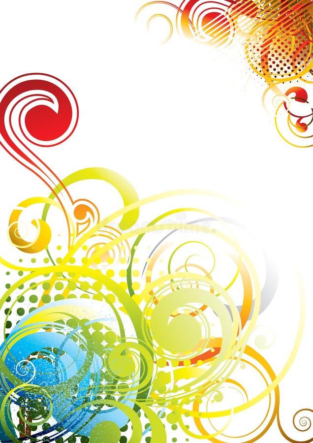 Design för bakgrundsfärggrunge royaltyfri illustrationer