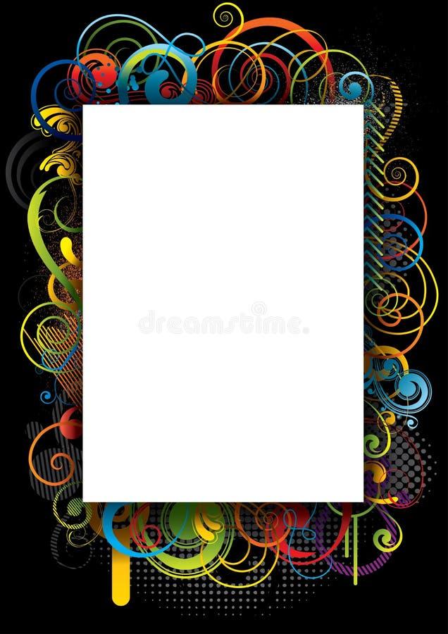 Design för bakgrundsfärgvirvel vektor illustrationer