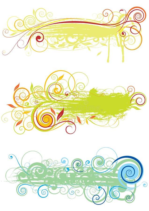 Design för bakgrundsvirvelfärg vektor illustrationer