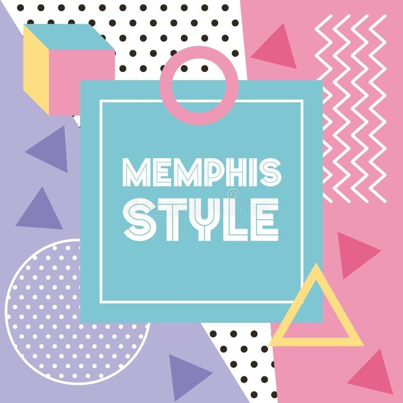 Design för baner för Memphis stilmodell geometrisk abstrakt vektor illustrationer