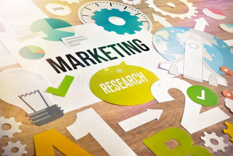 Design för begrepp för marknadsföringsforskning royaltyfri foto