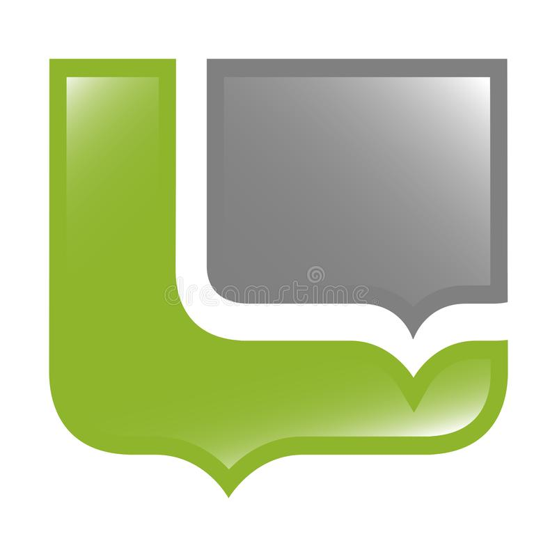 Design för begrepp för sköldbubblaanförande F?r mallbest?ndsdel f?r symbol grafisk vektor stock illustrationer