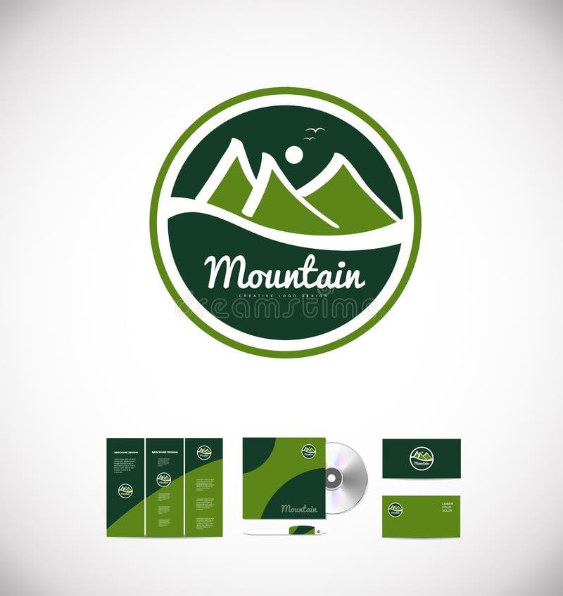Design för berglogosymbol vektor illustrationer