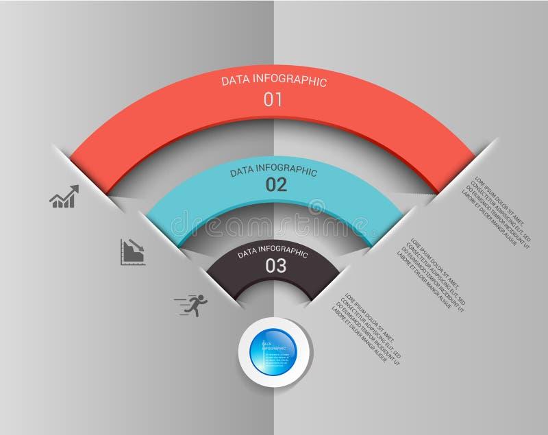 Design för beståndsdel för Wifi anslutning infographic vektor illustrationer