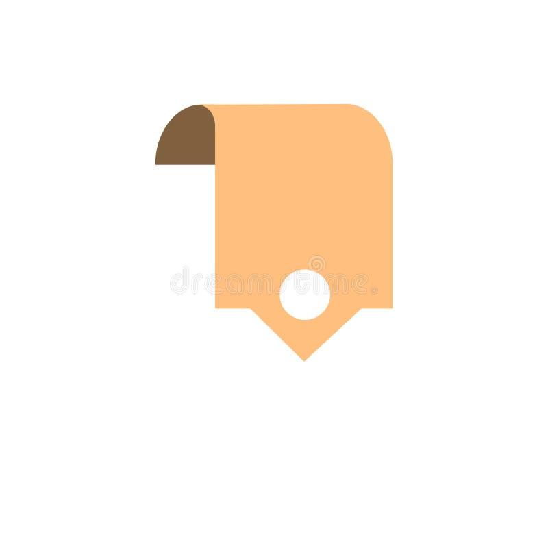 Design för brunt för bokmärkeknappsymbol stock illustrationer