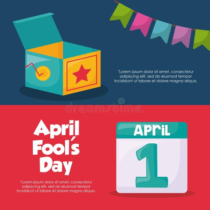 Design för dag för April dumbommar stock illustrationer