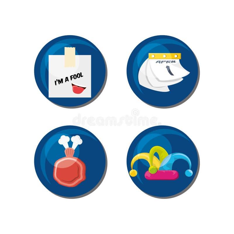 Design för dag för April dumbommar royaltyfri illustrationer