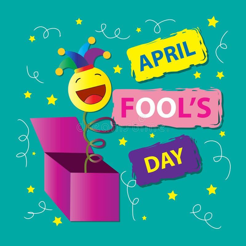 Design för dag för April dumbommar April 1 vektor illustrationer