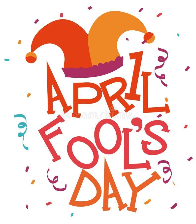 Design för dag för April dumbommar, vektorillustration stock illustrationer