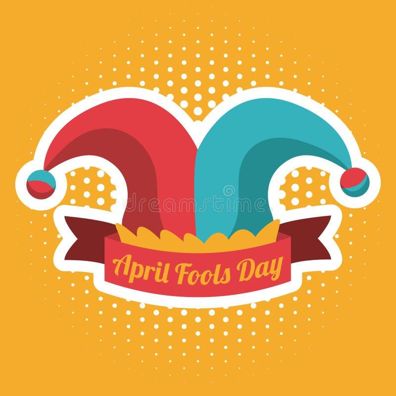 Design för dag för April dumbommar, vektorillustration royaltyfri illustrationer
