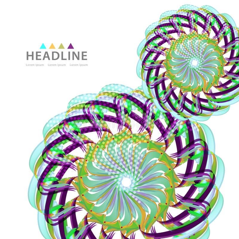 Design för diagram för mall för orientering för broschyrtitelrad färgrik royaltyfri illustrationer