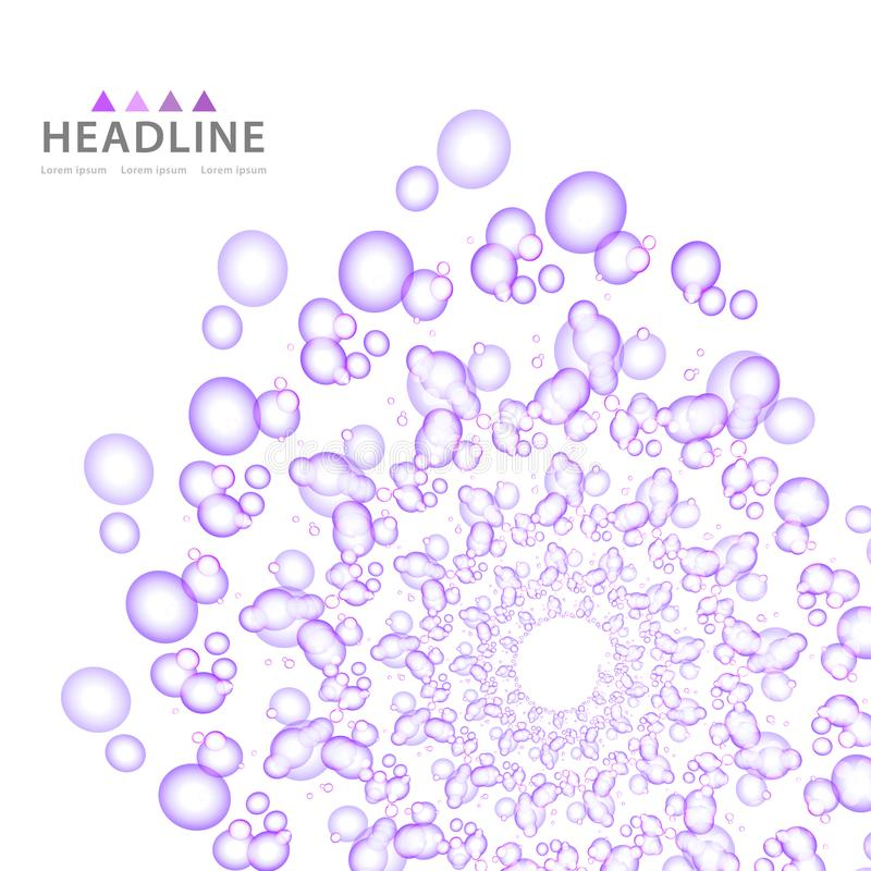 Design för diagram för mall för orientering för broschyrtitelrad färgrik stock illustrationer