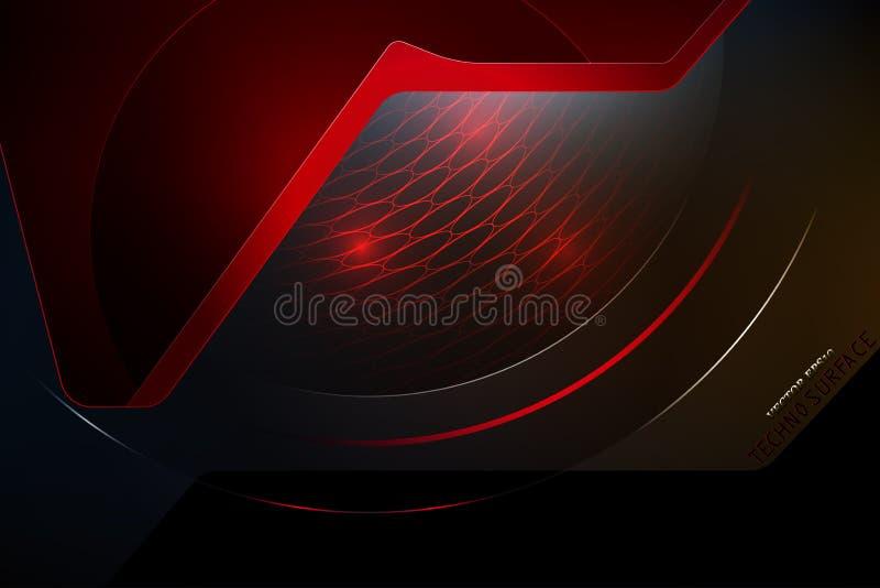 Design för diagram för vektor för Techno yttersidaplats stock illustrationer