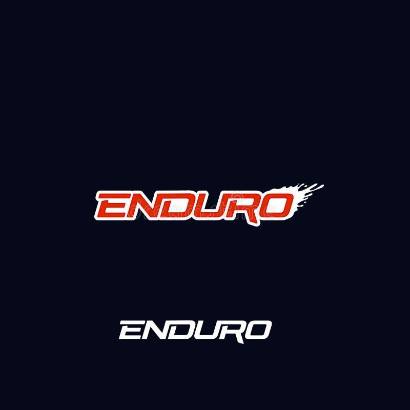 Design för Enduro logovektor Smutsfärgstänk Ytterligheten av vägmotorcykeln, smutscykeln, motocross cyklar eller mountainbikelogo stock illustrationer