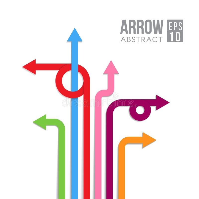 Design för eps för vektor för direkt tecken för pil abstrakt royaltyfri illustrationer